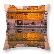 Golden Temple - Amritsar Throw Pillow