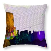 Grand Rapids City Skyline Throw Pillow