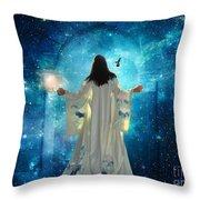 Heavens Door Throw Pillow
