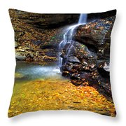 Holly River State Park Upper Falls Throw Pillow