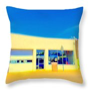 Hopper Garage Throw Pillow