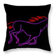 Horse Running Throw Pillow