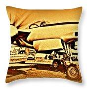 Howard Hughes And The Hughes Xf-11 Throw Pillow