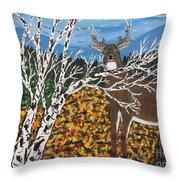 Hunter's Deer Camp Throw Pillow