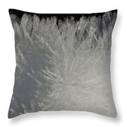 Ice Crystal Formations Throw Pillow