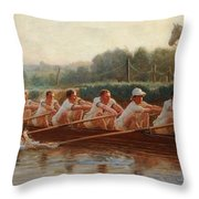 In The Golden Days Throw Pillow by Hugh Goldwin Riviere