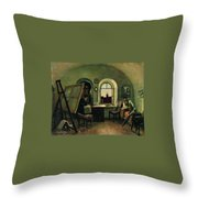 In The Studio On The Island Of Valaam Throw Pillow