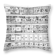 Inquiry In The Loss Of The Titanic Cross Sections Of The Ship  Throw Pillow
