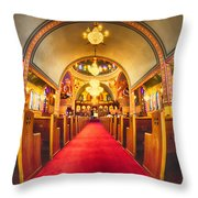 Interior Of  Holy Trinity Gre Throw Pillow