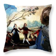 Irish Water Spaniel Art Canvas Print Throw Pillow