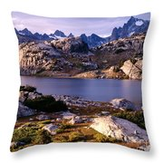 Island Lake And Wind River Range Throw Pillow