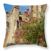 Italian Ruins In The Near Of The Lake Garda Throw Pillow