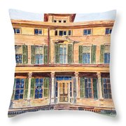 Italianate House Ny Throw Pillow
