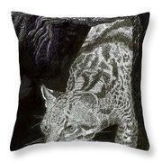 Jaguar Or Jacaranda  Throw Pillow