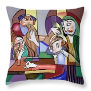 Jesus Anointed At Bethany Throw Pillow