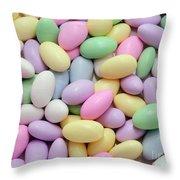 Jordan Almonds - Weddings - Candy Shop Throw Pillow