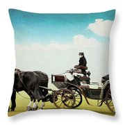 Journey Into The Past Throw Pillow
