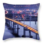 Kessock Bridge Inverness Throw Pillow