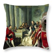 Komondor Art Canvas Print - Sextet Throw Pillow