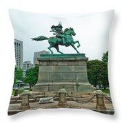 Kusunoki Masashige Throw Pillow