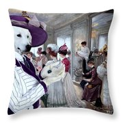 Kuvasz Art Canvas Print Throw Pillow
