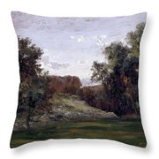 Landscape Near The Monastery Piedra. Aragon Throw Pillow