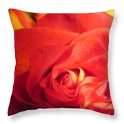Layers In Red Throw Pillow