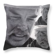 Lee Marvin Monte Walsh Variation #3 Collage Old Tucson Arizona 1969-2012 Throw Pillow