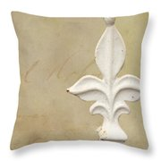 Letters From France Throw Pillow