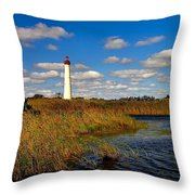 Lighthouse At The Water Throw Pillow