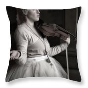 Lila Angelique In The Angel Tunnel Throw Pillow