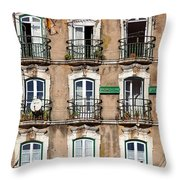 Lisbon - 18th Century Facade  Throw Pillow