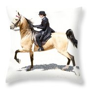 Lovely Gaited Buckskin  Throw Pillow