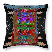 Magic Lamp Lights Up And Ask For 3 Wishes Chant 3 Times Jaag Jaag Kismat Throw Pillow