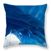 Melting Paradise Ice Cave Throw Pillow