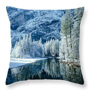 Merced River Reflection 2 Throw Pillow