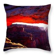 Mesa Arch Sunrise 2 Throw Pillow