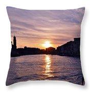 Mia Pervinca Murano Sunset  Throw Pillow