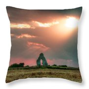 Midley Church Ruins At Sunset Throw Pillow