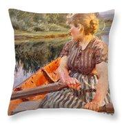 Midsummer Night Throw Pillow