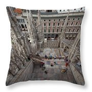 Milan From The Roof Throw Pillow