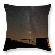 Milky Way Behind The Gate Throw Pillow