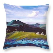 Mourne Mountains 1 Throw Pillow