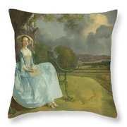 Mr And Mrs Andrews Throw Pillow