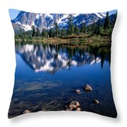 Mt. Shuksan Reflected In Picture Lake Throw Pillow