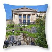 Museum Of Art Philadelphia Pa Throw Pillow by David Zanzinger