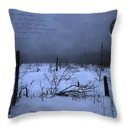 Native American Full Moon Treat The Earth Well Throw Pillow