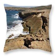 Natural Bridge Oranjestad Aruba Throw Pillow