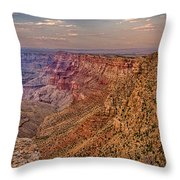 Navajo Viewpoint In Grand Canyon National Park Throw Pillow
