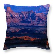 Needles Overlook  Throw Pillow